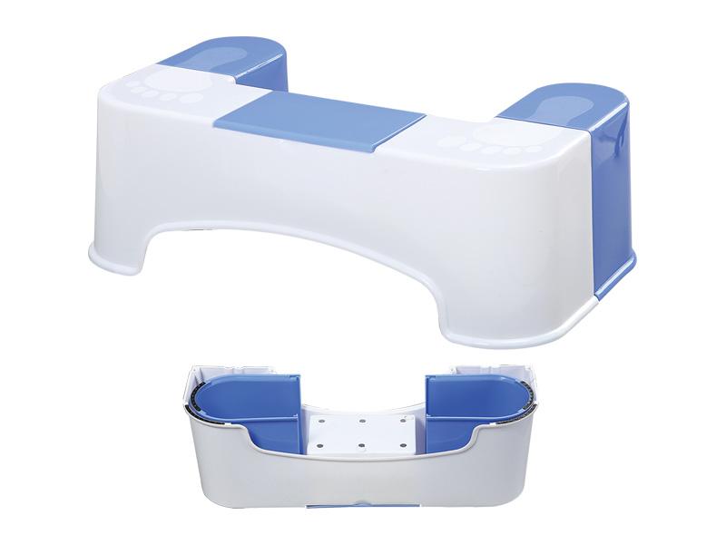 テッシュケース付きトイレ用スツール
