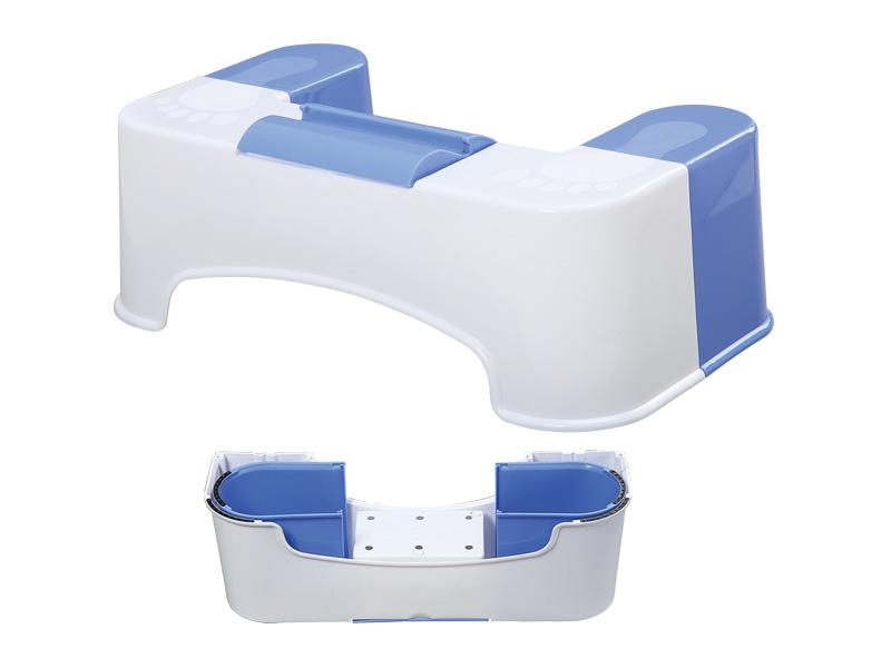 テッシュケース付きトイレ用スツール(携帯スタンド式)